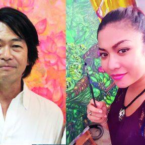 美しいカンボジアの風景に出会う、日本人×カンボジア人絵画展