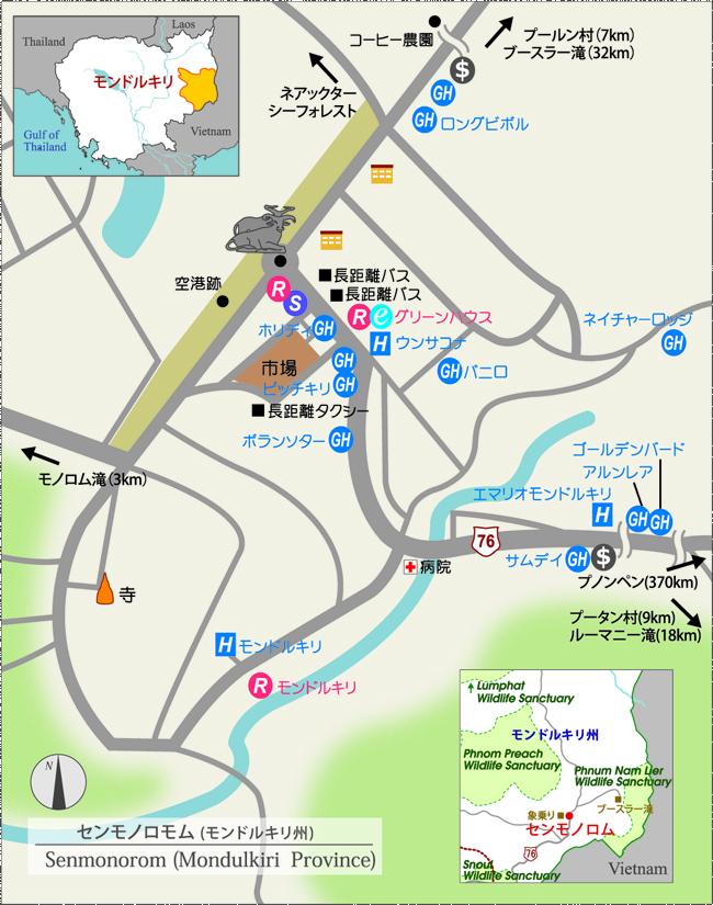 モンドルキリ州地図