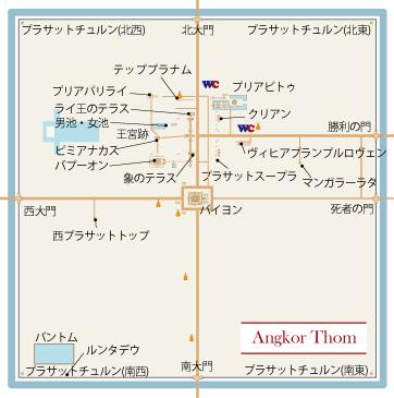 バイヨン寺院マップ