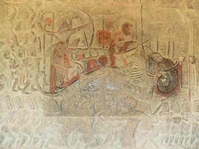 ヴィシュヌ神の隊列と阿修羅軍の決闘