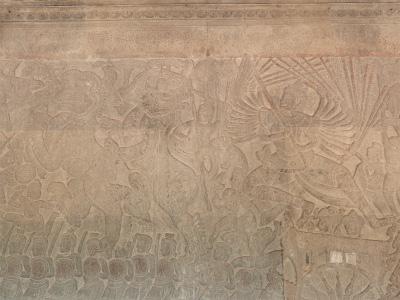 鬼神バーナを攻撃するクリシュナ神