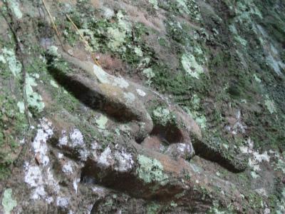 山上の遺跡