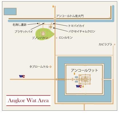 アンコールワット周辺遺跡地図